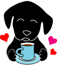 black lab Lucas sticker #115135