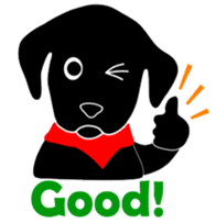 black lab Lucas sticker #115136