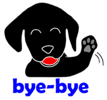 black lab Lucas sticker #115138
