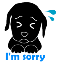 black lab Lucas sticker #115141