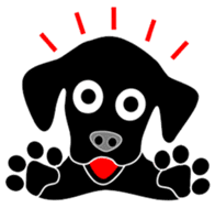 black lab Lucas sticker #115146