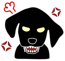 black lab Lucas sticker #115148