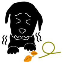 black lab Lucas sticker #115150