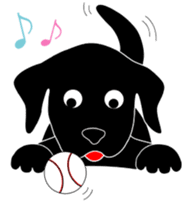 black lab Lucas sticker #115151