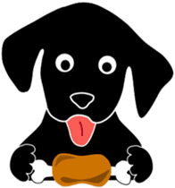 black lab Lucas sticker #115155