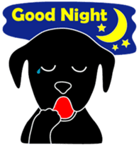black lab Lucas sticker #115160