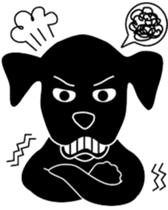 black lab Lucas sticker #115161