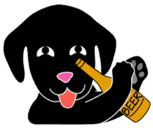 black lab Lucas sticker #115166