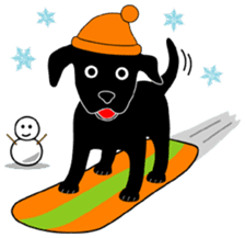 black lab Lucas sticker #115168