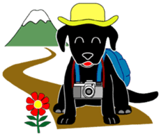 black lab Lucas sticker #115169