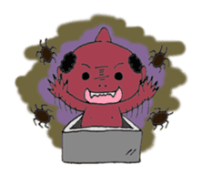 A small Japanese monsters story sticker #115248