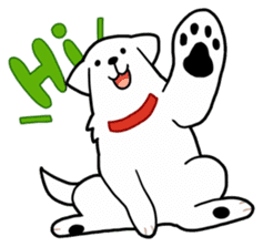 A Dog Called SHIRO sticker #115735