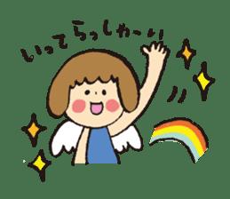 Angel stamp POP sticker #116175