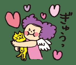Angel stamp POP sticker #116186