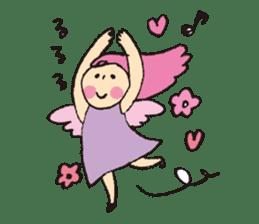 Angel stamp POP sticker #116210