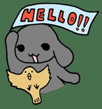 rabbit Woo-tan sticker #116516
