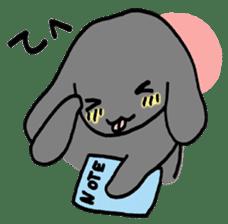 rabbit Woo-tan sticker #116517