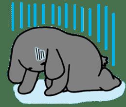 rabbit Woo-tan sticker #116518
