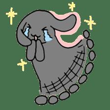rabbit Woo-tan sticker #116528
