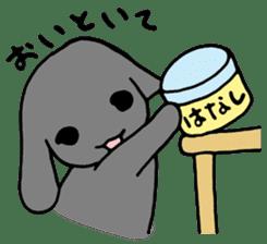 rabbit Woo-tan sticker #116540
