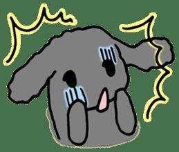 rabbit Woo-tan sticker #116544