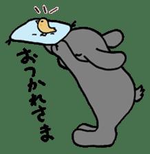 rabbit Woo-tan sticker #116547