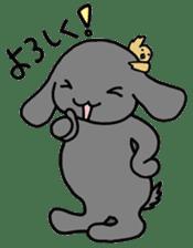 rabbit Woo-tan sticker #116548