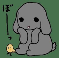 rabbit Woo-tan sticker #116551
