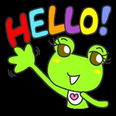 """""""KAERUN"""" of a frog"""