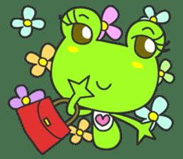 """""""KAERUN"""" of a frog sticker #117263"""