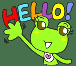 """""""KAERUN"""" of a frog sticker #117269"""