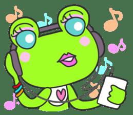 """""""KAERUN"""" of a frog sticker #117272"""