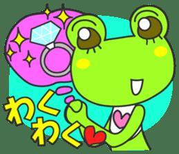 """""""KAERUN"""" of a frog sticker #117290"""