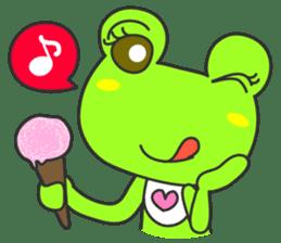 """""""KAERUN"""" of a frog sticker #117293"""
