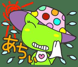 """""""KAERUN"""" of a frog sticker #117298"""
