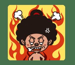 Afro Sumo wrestler sticker #118526