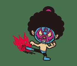 Afro Sumo wrestler sticker #118547