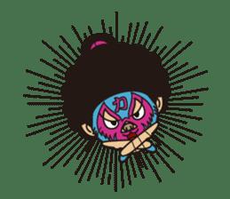 Afro Sumo wrestler sticker #118548