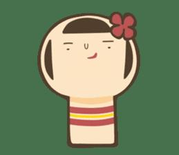 kokeshi sticker #119170