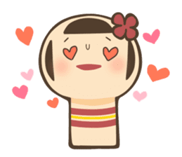 kokeshi sticker #119202