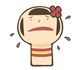 kokeshi sticker #119203