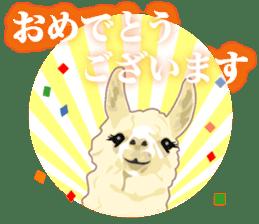 Alpaca and friends business Japanese sticker #119204