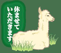 Alpaca and friends business Japanese sticker #119216