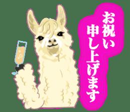 Alpaca and friends business Japanese sticker #119234