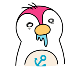 Melt Penguin sticker #120022