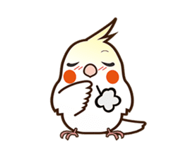 Miss Lovebird-Naughty Cockatiel sticker #122395
