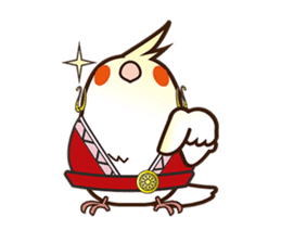 Miss Lovebird-Naughty Cockatiel sticker #122400