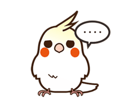 Miss Lovebird-Naughty Cockatiel sticker #122405