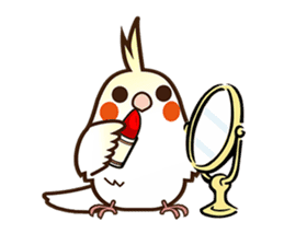 Miss Lovebird-Naughty Cockatiel sticker #122407