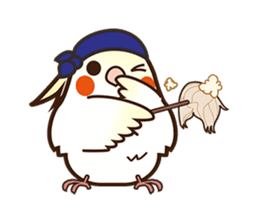 Miss Lovebird-Naughty Cockatiel sticker #122419